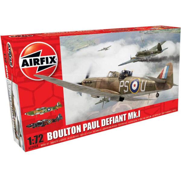 airfix a02069 Boulton Paul Defiant Mk.I 1/72 Kit en plástico para montar y pintar. Hoja de calcas con 2 decoraciones