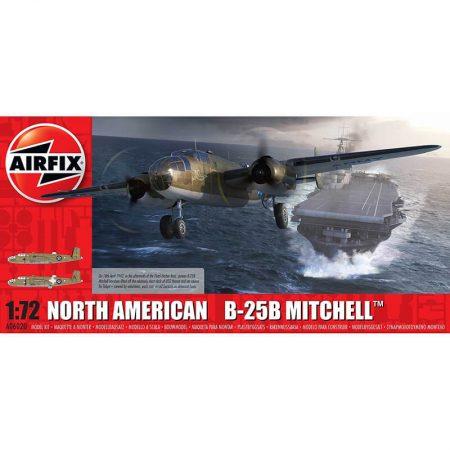 airfix a06020 North American B25B Mitchell 1/72 Kit en plástico para montar y pintar. Hoja de calcas con 2 decoraciones.