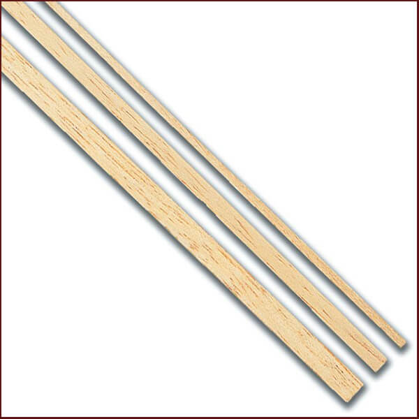 Forro de Tilo 1 Mtr Paquete de listones (tracas) de forro en madera de tilo para modelismo naval, marquetería, restauración y hobby en general.
