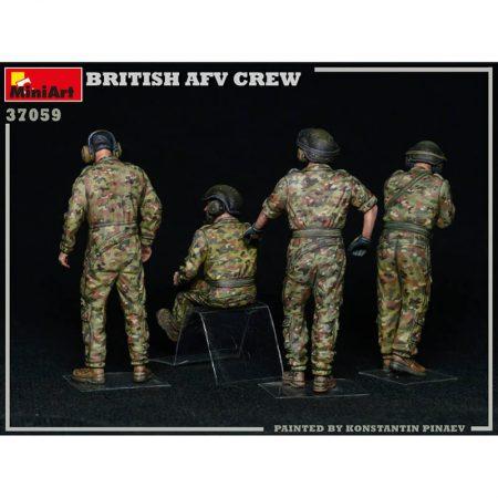 miniart models 37059 Britsh AFV Crew Modern kit en plástico para montar y pintar 4 figuras de carristas británicos modernos.