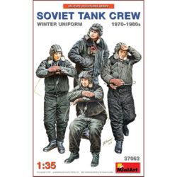 miniart models 37063 Soviet Tank Crew 1970-1980s Winter Uniform kit en plástico para montar y pintar 4 figuras de carristas soviéticos en la década de 1970-80.