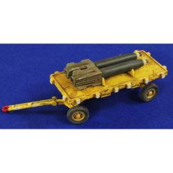 Verlinden 2829 USAF Bomb Trailer 1/48 kit en resina para montar y pintar un remolque de bombas de la USAF.