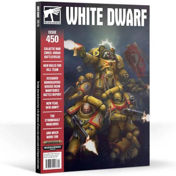 White Dwarf nº 450 revista en Inglés La revista White Dwarf esta centrada en el universo de los juegos de Games Workshop
