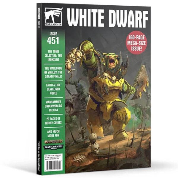 White Dwarf nº 451 revista en Inglés La revista White Dwarf esta centrada en el universo de los juegos de Games Workshop,