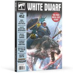 White Dwarf nº 452 revista en Inglés La revista White Dwarf esta centrada en el universo de los juegos de Games Workshop