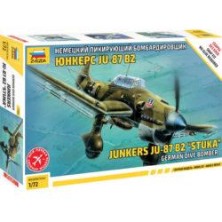 zvezda 7306 Junkers Ju-87B2 Stuka German Dive Bomber Kit en plástico para montar y pintar. Snap Fit montaje fácil sin pegamento.
