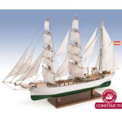 constructo 80842 Buque Escuela Galatea/Glenlee 1/140 Kit de construcción tradicional en madera y metal.