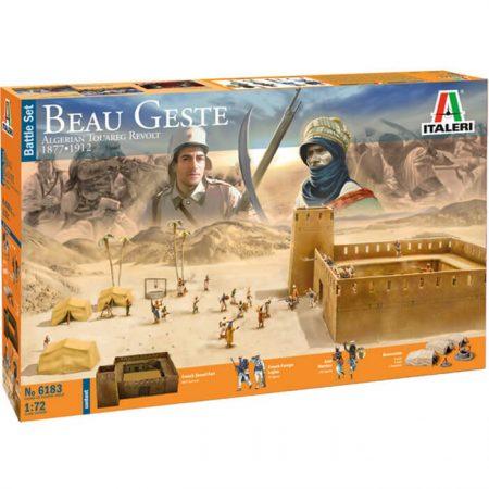 italeri 6183 BEAU GESTE: Battle Set 1/72 Algerian Tuareg Revolt Kit en plástico para montar y pintar.