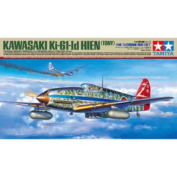 tamiya 61115 Kawasaki Ki-61-Id Hien (Tony) 1/48 Kit en plástico para montar y pintar. Interior y motor detallados.