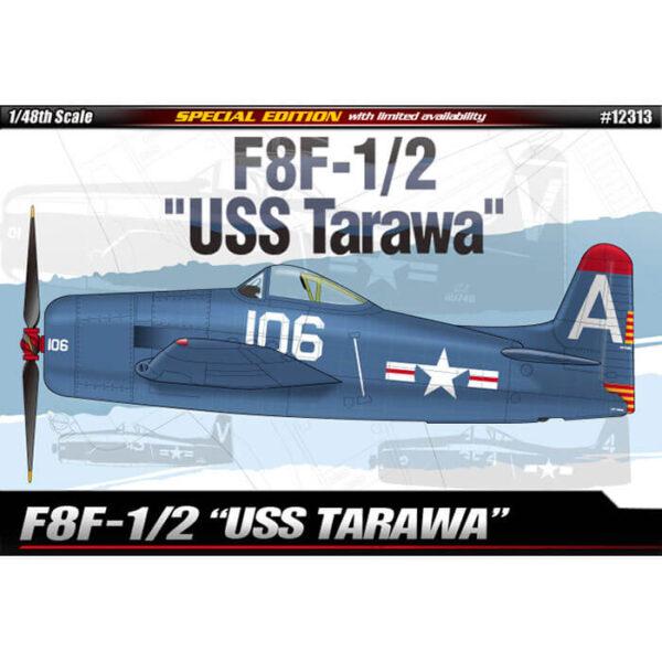 academy 12313 Grumman F8F-1/2 Bearcat USS Tarawa 1/48 Kit en plástico para montar y pintar.