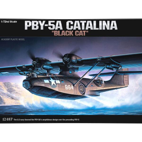academy 12487 PBY-5A Catalina Black Cat 1/72 Kit en plástico para montar y pintar.