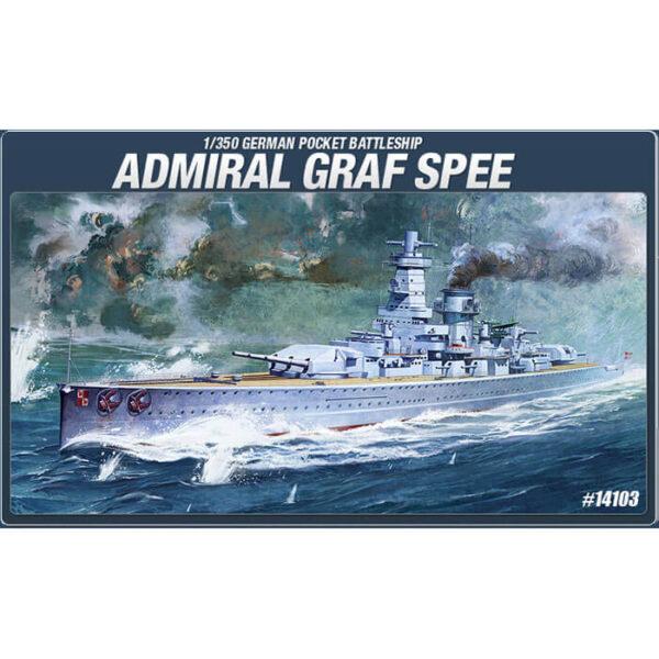 academy 14103 Admiral Graf Spee 1/350 German Pocket Battleship Kit en plástico para montar y pintar.