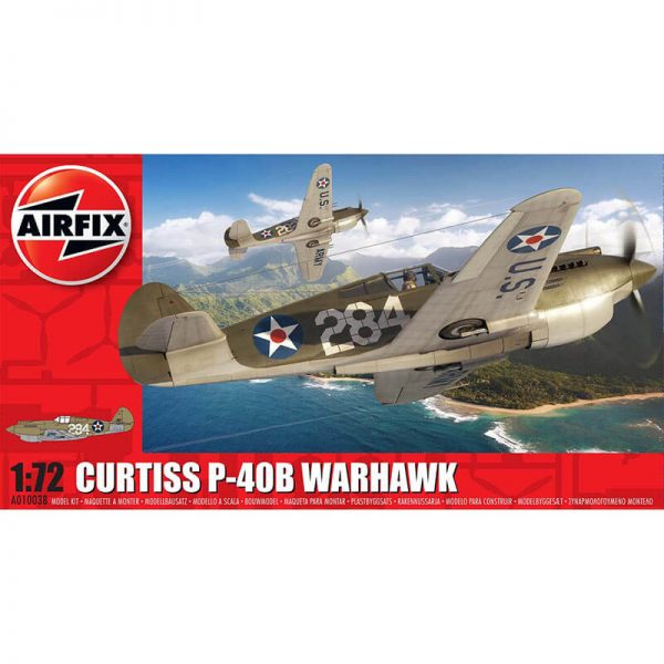 Curtiss P-40B Warhawk 1/72 Kit en plástico para montar y pintar.airfix 1003b