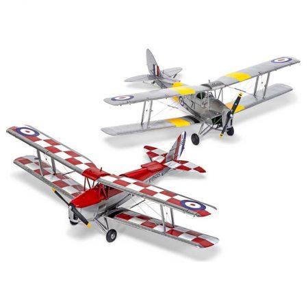 airfix a04104 de Havilland D.H.82a Tiger Moth 1/48 Kit en plástico para montar y pintar. Hoja de calcas con 2 decoraciones.