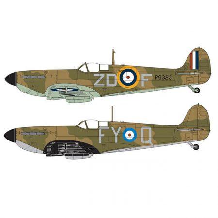 airfix a05126a Supermarine Spitfire Mk.1a 1/48 Kit en plástico para montar y pintar. Hoja de calcas con 2 decoraciones.