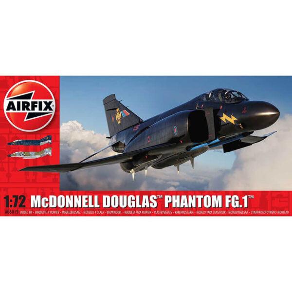 airfix a06019 McDonnell Douglas Phantom FG.1 RAF 1/72 Kit en plástico para montar y pintar. Hoja de calcas con 2 decoraciones.