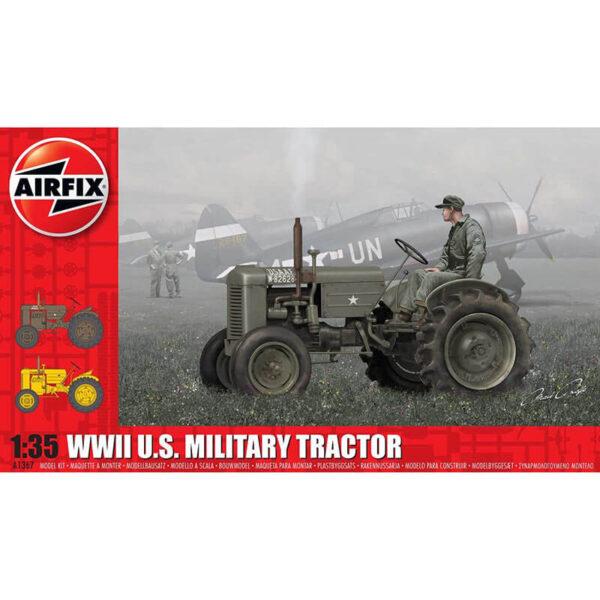 airfix a1367 WWII U.S. Military Tractor 1/35 Kit en plástico para montar y pintar. Dos opciones de decoración.