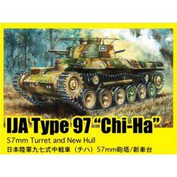 """dragon 6875 IJA Type 97 """"Chi-Ha"""" w/57mm Gun 1/35 Kit en plástico para montar y pintar. Incluye fotograbado para los protectores de escape."""