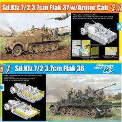 dragon 6953 Sd.Kfz.7/2 3.7cm FlaK 37 w/Armor Cab or Sd.Kfz.7/2 3.7cm FlaK 36 1/35 Kit en plástico para montar y pintar. Incluye piezas en fotograbado.