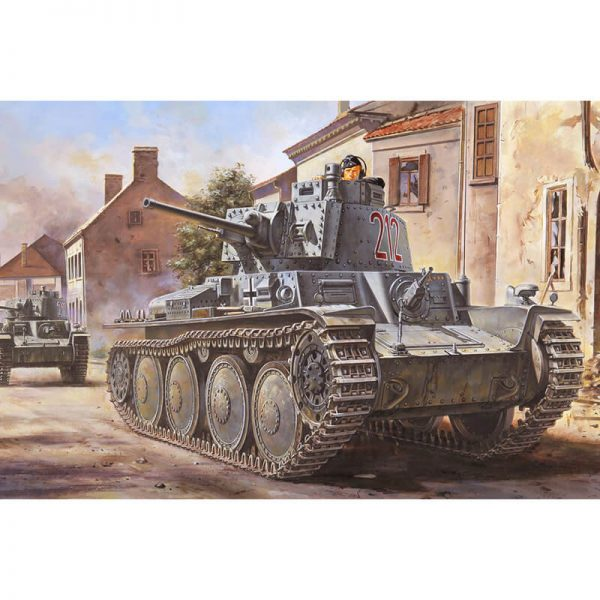 hobby boss 80141 German Panzer Kpfw.38(t) Ausf.B 1/35 Kit en plástico para montar y pintar. Incluye piezas en fotograbado y cadenas por eslabones individuales.