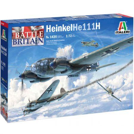 italeri 1436 Heinkell He 111H 1/72 Battle of Britain Kit en plástico para montar y pintar.