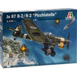 italeri 2769 JU 87B-2/R-2 PICCHIATELLO 1/48 Kit en plástico para montar y pintar. Incluye piezas en fotograbado y motor detallado.