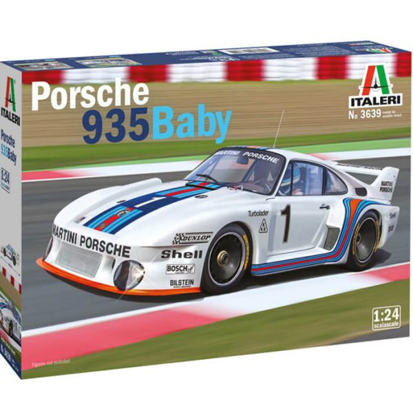 italeri 3639 PORSCHE 935 BEBÉ 1/24 Kit en plástico para montar y pintar. Decoración para Porsche 935 Baby - Brands Hacht 6 Hours - Septiembre 1977