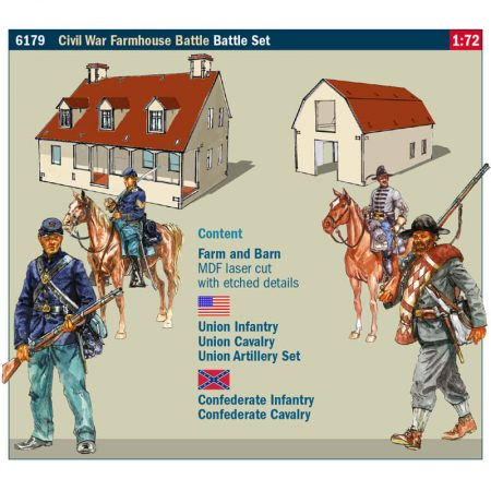 italeri 6179 Farmhouse Battle - Battle Set 1/72 American Civil War 1864 Kit en plástico para montar y pintar.