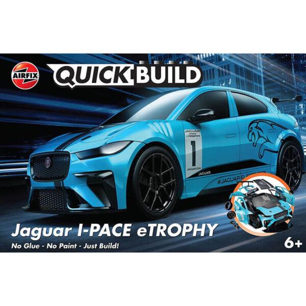 j6033 Jaguar I-PACE eTROPHY Quickbuild La nueva gama de modelos QUICK BUILD de Airfix se construyen usando bloques de plástico de ajuste fácil.