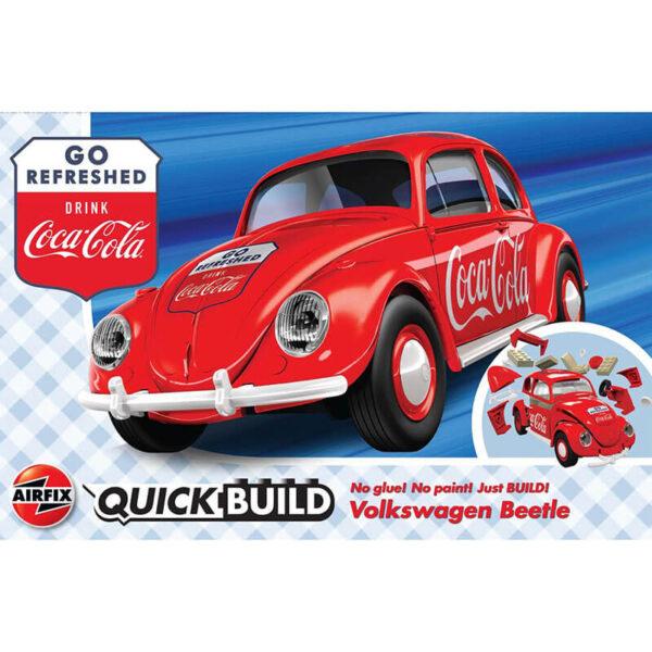 j6048 Coca-Cola® VW Beetle Quickbuild La nueva gama de modelos QUICK BUILD de Airfix se construyen usando bloques de plástico de ajuste fácil.