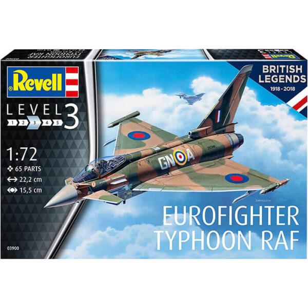 Revell 03900 Eurofighter Typhoon RAF 1/72 British Legends 1918 - 2018 Maqueta en plástico para montar y pintar.