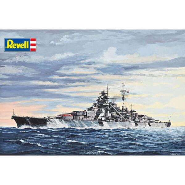 Revell 05098 Battleship Bismarck 1/700 Maqueta en plástico para montar y pintar. Modelo de casco completo.