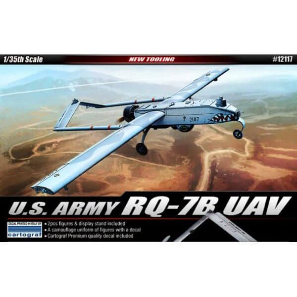 academy 12117 U.S. ARMY RQ-7B UAV 1/35 Kit en plástico para montar y pintar.