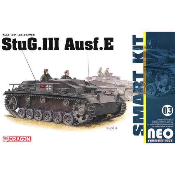 dragon 6818 StuG.III Ausf.E Neo Smart 1/35 Kit en plástico para montar y pintar. Incluye piezas en fotograbado, interior detallado y cadenas por tramo y eslabón.