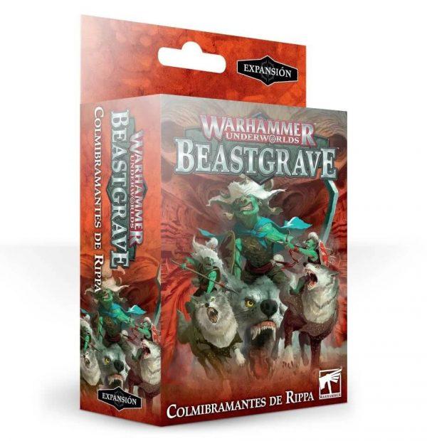 Warhammer Underworlds: Beastgrave – Colmibramantes de Ripa 3 miniaturas de los Snarlfangs de Rippa.