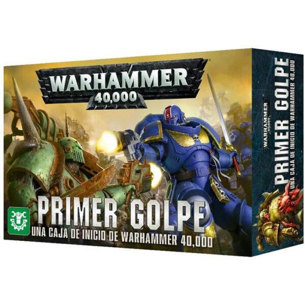 gws 40-04 Warhammer 40000 Primer Golpe Caja de Inicio En esta caja encontrarás todo lo que necesitas para iniciarte en el hobby de coleccionismo y juego.