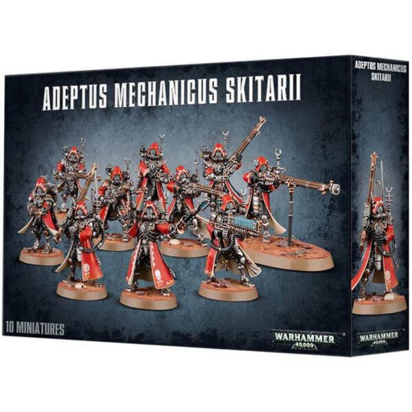gws 59-10 Adeptus Mechanicus Skitarii Esta caja de plástico multicomponente contiene todo lo que necesitas para montar diez Skitarii Rangers o diez Skitarii Vanguard.