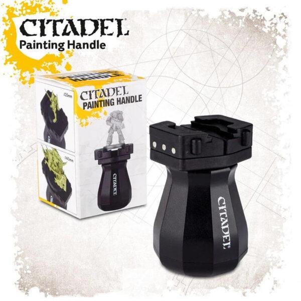 Soporte de pintado Citadel Citadel Painting Handle Este práctico soporte nos permite sujetar con seguridad las miniaturas mientras las pintamos.