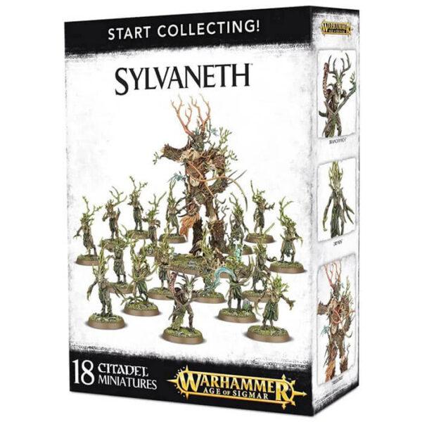 games workshop Start Collecting! Sylvaneth Warhammer Age of Sigmar Esta fantástica caja te proporciona una colección instantánea de fabulosas miniaturas de Sylvaneth que podrás montar y usar directamente en partidas de Age of Sigmar.
