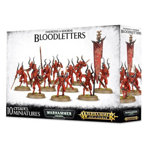 Games workshop Daemons Of Khorne Bloodletters Caja multicomponente de plástico para poder montar 10 figuras