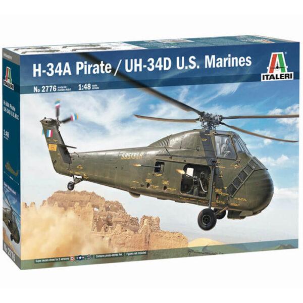 italeri 2776 H-34A Pirate UH-34D U.S. Marines 1/48 Kit en plástico para montar y pintar. Incluye piezas en fotograbado.