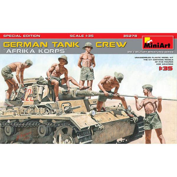 miniart 35278 German Tank Crew Afrika Korps 1/35 Kit en plástico para montar y pintar.