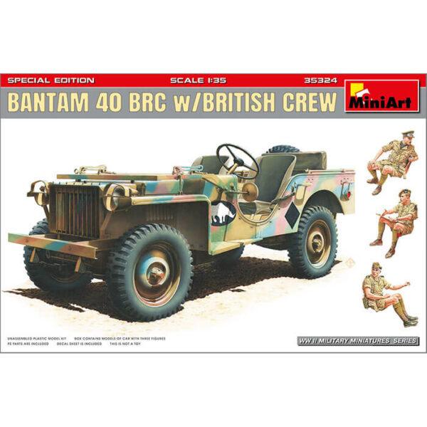 miniart 35324 Bantam 40 BRC W/British Crew 1/35 Kit en plástico para montar y pintar. Incluye piezas en fotograbado y 3 figuras
