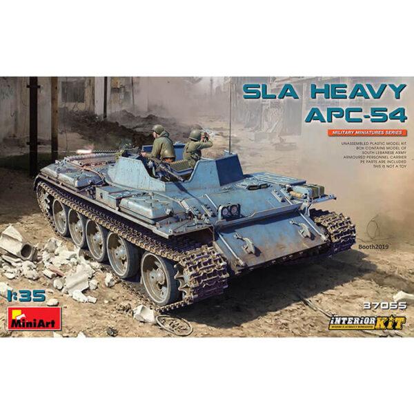 miniart 37055 SLA Heavy APC-54 1/35 Kit en plástico para montar y pintar. Incluye piezas en fotograbado y cadenas por eslabones individuales. Interior detallado, incluye el motor V-54