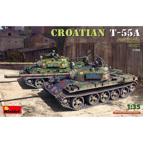 miniart 37088 T-55A Croatian 1/35 Kit en plástico para montar y pintar. Incluye piezas en fotograbado y cadenas por eslabones individuales.