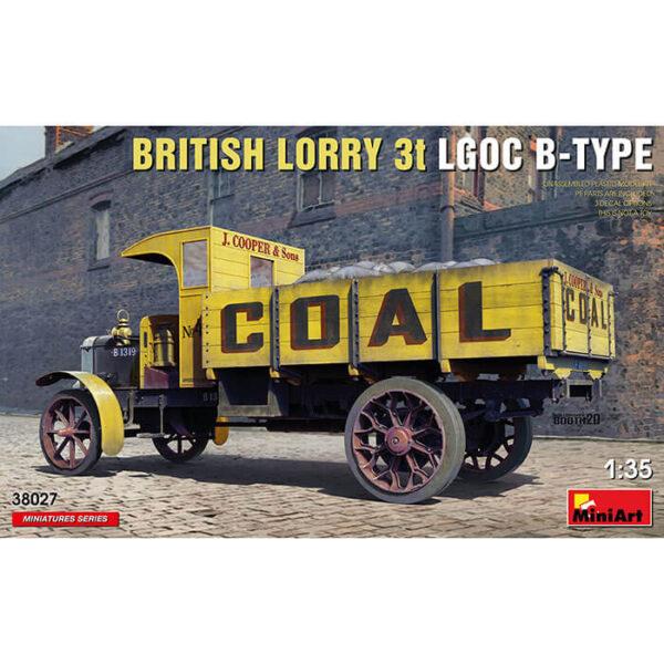 miniart 38027 British Lorry 3t LGOC B-Type 1/35 Kit en plástico para montar y pintar. Incluye piezas en fotograbado.