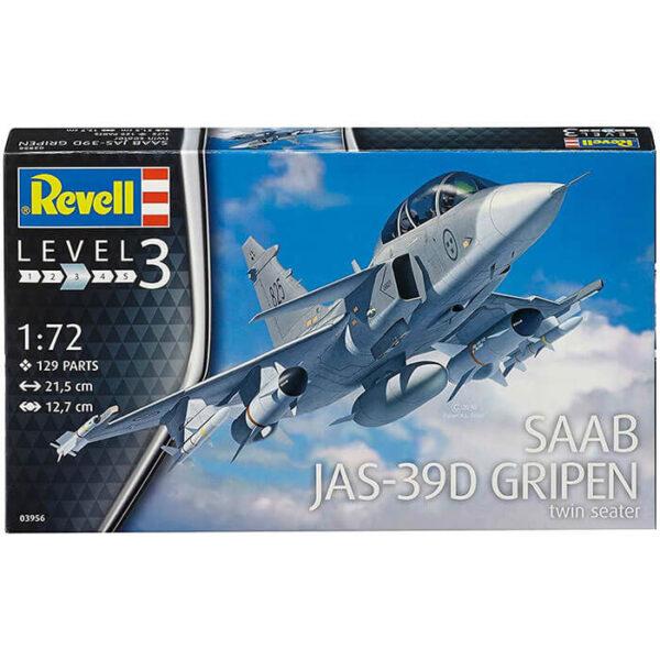 revell 03956 SAAB JAS-39D Gripen Twin Seater 1/72 Maqueta en plástico para montar y pintar.