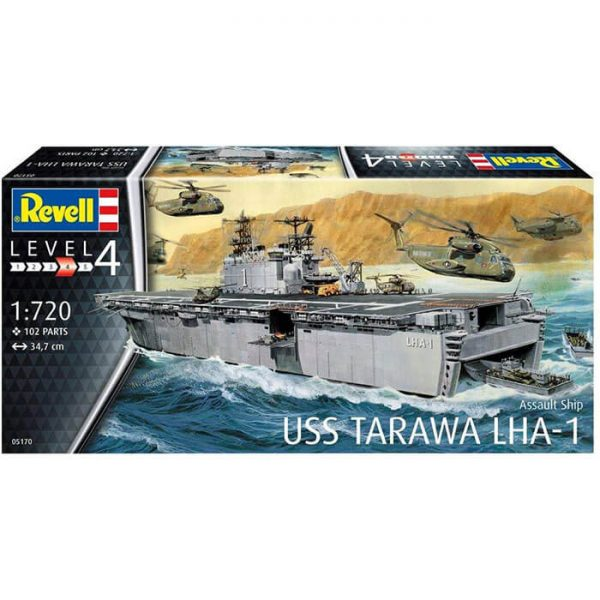 revell 05170 Assault Ship USS Tarawa LHA-1 1/720 Maqueta en plástico para montar y pintar.