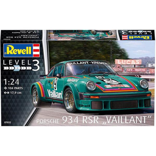 revell 07032 Porsche 934 RSR Vaillant 1/24 Maqueta en plástico para montar y pintar