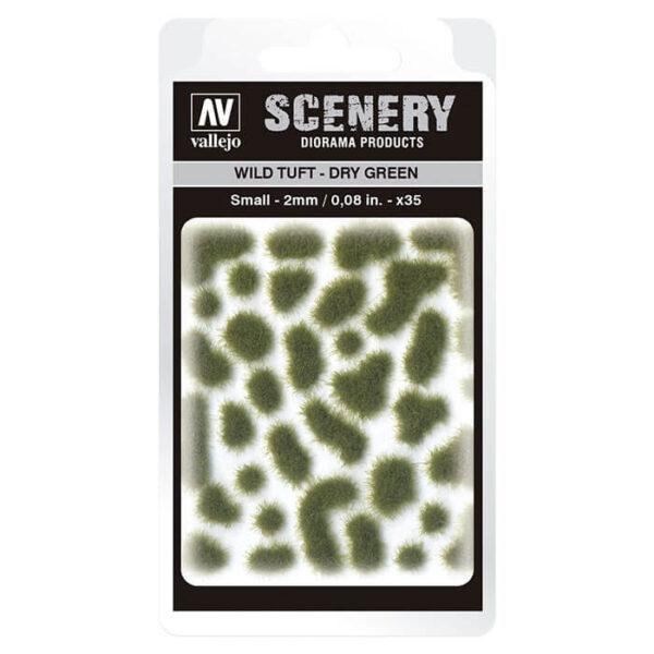 Wild Tuft - Dry Green Small Vallejo Scenery es una gama de vegetación en miniatura con la conseguir un mayor realismo a la hora de ambientar los terrenos para nuestras maquetas y figuras en viñetas y dioramas.